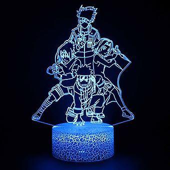 3d Touch Lampada Luci Notturne Bambino 7 Colori Con Telecomando - Naruto