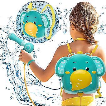 Rucksack Wasserpistole 1900ml High Capacity Wasserpistole Spielzeug (Elefant)
