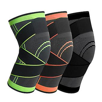 1pc Sports Genouillère Hommes Pressurized Elastic Knee Pads Support Fitness Gear Basketball Volleyball Knee Brace Protector Bandage