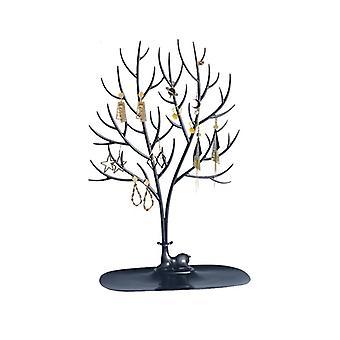 Waldgeweih Baum geformt Kreative Schmuck Box Ohrring Halter Halskette Armband Ohrring Aufbewahrungsbox Schmuck Halter-schwarz