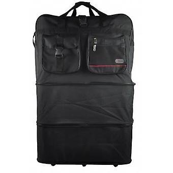 Expanderande Shopping väska svart