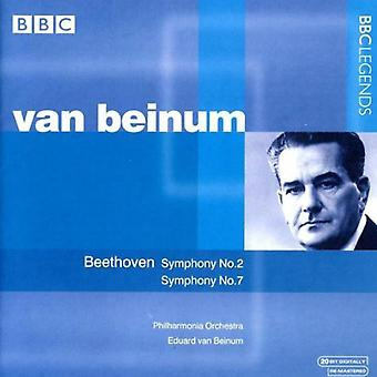 L.V. Beethoven - Beethoven: Symphonies Nos. 2 & 7 [CD] USA import