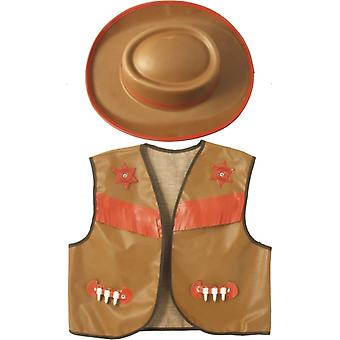 Cowboy costume children costume Western costume set 2-piece set children