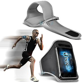Huawei Honor Bee Fitness Running Jogging Cycling Gym Armband Holder Case Cover (White)