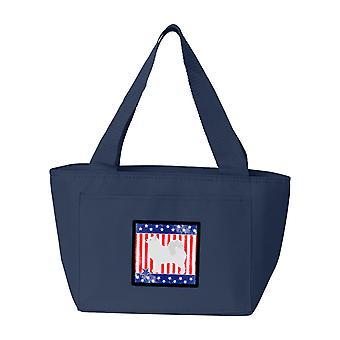 Carolines Treasures  BB3359NA-8808 USA Patriotic Samoyed Lunch Bag