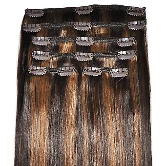 #2/6 Caramel Mocha Blend - Clip-in Hair Extensions - Full Head