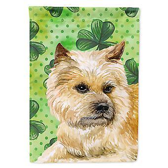 Carolines Treasures  BB9864GF Cairn Terrier St Patrick's Flag Garden Size