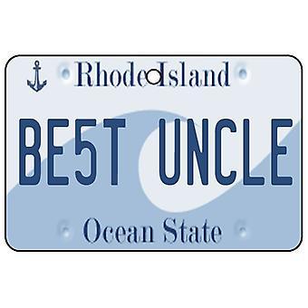Rhode Island - meilleur oncle License plaque voiture assainisseur d'Air