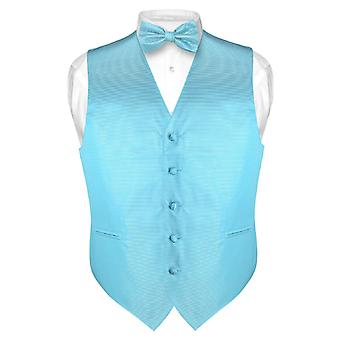 Men's Dress Vest & BOWTie BOW Tie Horizontal Stripe Set