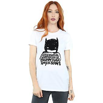 DC Comics Women's Batman Always Be Yourself Boyfriend Fit T-Shirt
