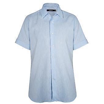 Lagerfeld Blue Linen Short Sleeve Shirt