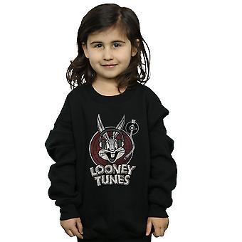 Looney Tunes Girls Bugs Bunny Circle Logo Sweatshirt