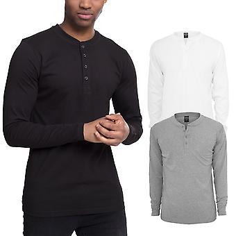 קלאסיקה עירונית-חולצת הנלי שרוול ארוך שרוולים