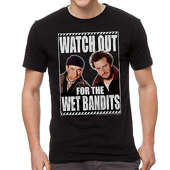 Home Alone Watch Out Wet Bandits Men's Black T-shirt