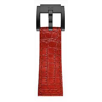 TW Steel Marc Coblen armband horloge band 22 MM Croco leder rood LB_R_K_B