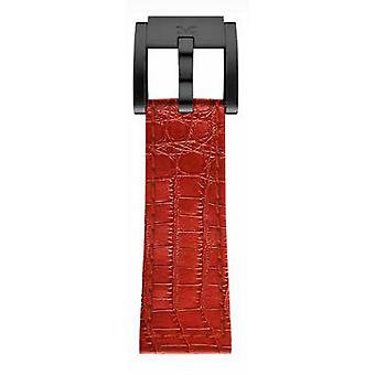 TW Steel Marc Coblen Bracelet Watch band 22 MM Croco leather red LB_R_K_B