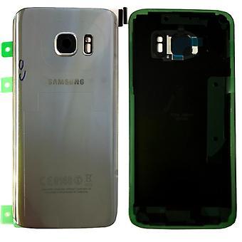 Samsung GH82-11346B крышка отсека для галактики S7 края G935 G935F + клей площадку серебро