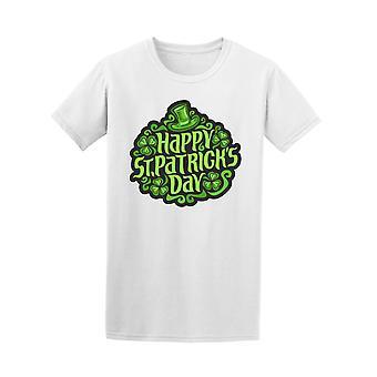 Happy St Patrick's Day Shamrocks Design Tee - Image by Shutterstock