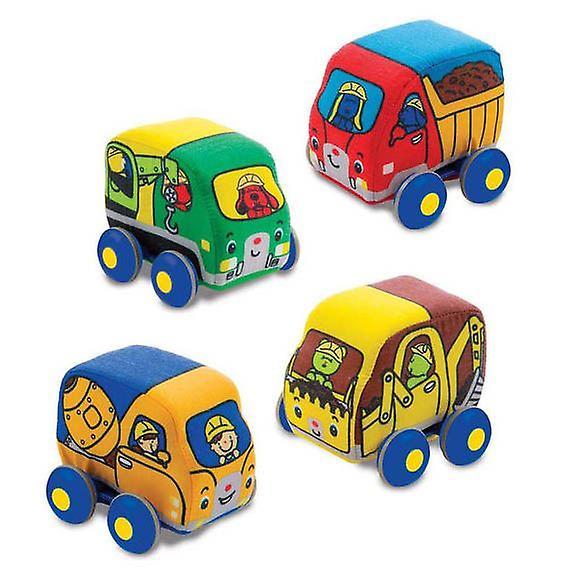 Melissa & Doug Pull Back Soft Construction Vehicles