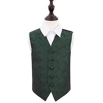 Smaragd Grün Paisley Hochzeit Weste für jungen