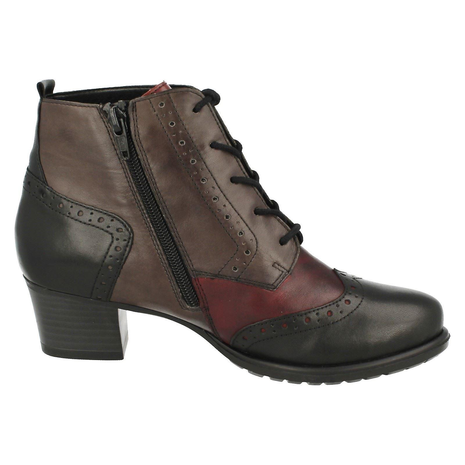 Mesdames Remonte Brogue Style Bottes Warmlined D3180