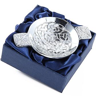 Celtic Eternity Knotwork Pewter Mini Quaich