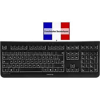 لوحة مفاتيح USB 1000 كيه سي الكرز الأسود الفرنسية، AZERTY