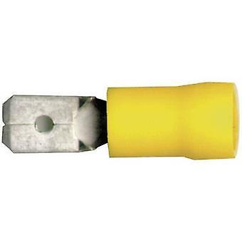 Anchura de conector terminal de Vogt Verbindungstechnik 3912 hoja: 6.3 mm espesor del conector: 0,8 mm 180 ° parcialmente aislado amarillo 1 PC