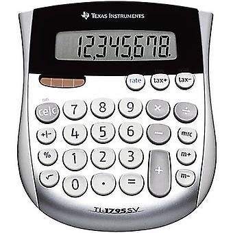 Texas Instruments TI-1795 SV Pocket calculadora Silver Display (dígitos): 8 alimentados por energía solar, alimentados por batería (An x H x D) 118 x 10 x 138 mm