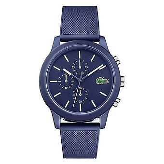 Lacoste 12.12 Mens Blue Silicone Strap Blue Dial 2010970 Watch