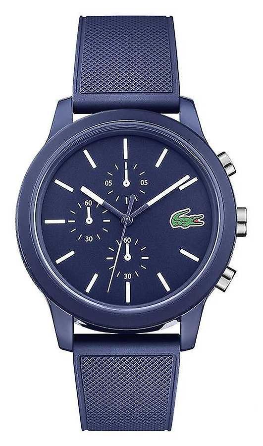 Lacoste 12.12 Silicone bleu bracelet cadran bleu 2010970 montre