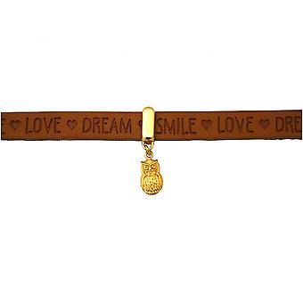 Brown - fechadura magnética - desejos - banhado a ouro - pulseira - UHU-