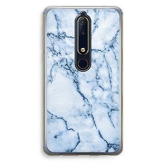 Nokia 6 (2018) gennemsigtig sag (Soft) - Blue marble