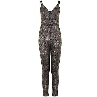 Damen-verstellbare Träger Wrap V Neck Damen prickelnde Windung alles In einem Jumpsuit