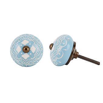 CGB regalos mano azul diamante pintado manija del cajón
