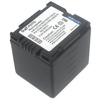 Dot.Foto Panasonic CGA-DU21, bateria da recolocação VW-VBD210 - 7.2 v / 2040mAh