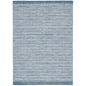 Knox Wool Reversible Rugs In Blue