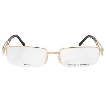 Porsche Design P8703 B Rectangular | Matte Gold| Eyeglass Frames