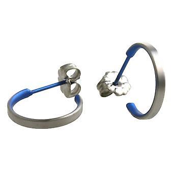עגילי חישוק קטן טיטניום Ti2-כחול-כהה