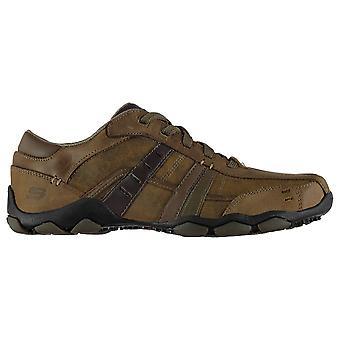 Skechers para hombre diámetro Vasse zapatos Casual con encaje acolchada tobillo Collar cuero