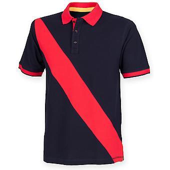 Front Row Childrens Diagonal Stripe Polo Shirt