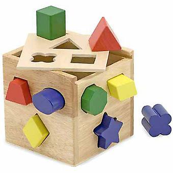 Melissa en Doug vorm sorteren kubus klassiek speelgoed