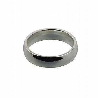 """9 قيراط الذهب الأبيض 5 مم عادي المحكمة على شكل """"خاتم الزواج ف الحجم"""""""