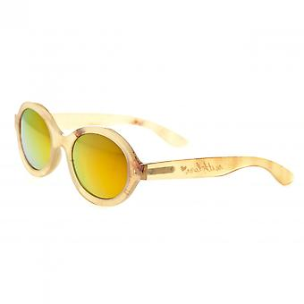 Bertha Laurel Buffalo-Horn Polarized Sunglasses - Honey/Gold