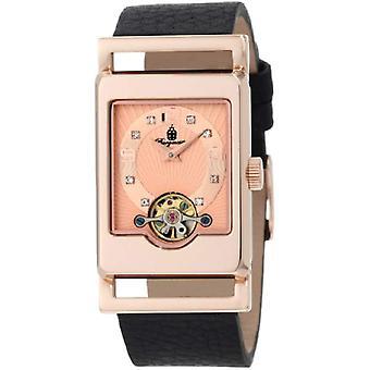Burgmeister-armband klocka, svart läder