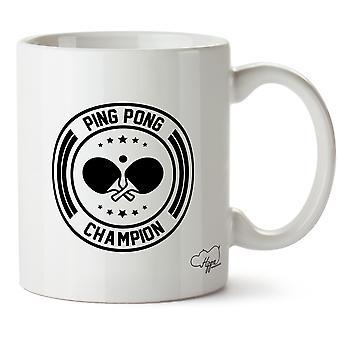 Hippowarehouse Ping Pong mestari (Pocket) 10oz muki Cup