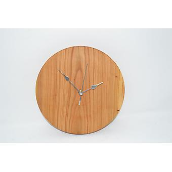 Wood wall clock wooden clock 25.5 cm wood cherry wood moulding Woodart decoration gift gift idea unique hand made made in Austria