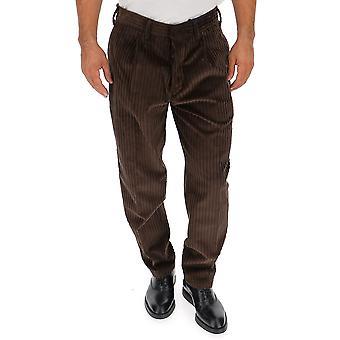 The Gigi Tongaj074400 Men's Brown Velvet Pants