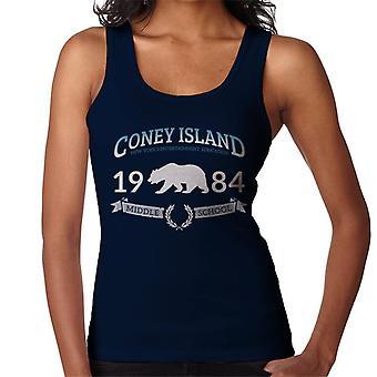 Colete de Coney Island em 1984 ensino médio feminino