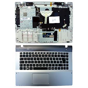 Samsung BA75-02700A med Topcase Silver UK Layout ersättning Laptop tangentbord